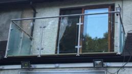 glass balustrade front